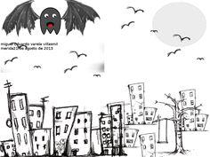 ''la-cuidad-oscura'' en esta imagen se utilizaron los siguientes pinceles: UrbanScrawl_15, UrbanScrawl_16, UrbanScrawl_17,UrbanScrawl_25. Se utilizo la fuente Sans número 18. Medidas: 1024x768 pixeles.Orientación: Horizontal
