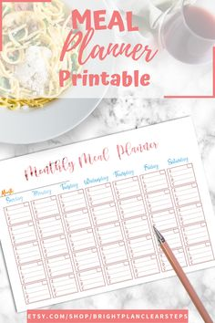If you are looking for meal planning organization printables, this is the best planner for you! it includes a monthly meal planning printables, a weekly meal planner and the best grocery list to plan and achieve your health and fit weight loss diet. You´ll also receive Recipe cards and more printables to organizing the best recipes to try. Organize your meal planning ideas weekly or monthly with a healthy eating planner and meal tracking printables #mealplanning #familymealplanning… Weekly Meal Planner Template, Monthly Meal Planner, Meal Planner Printable, Planner Pages, Diet Planner, Printables, Healthy Eating Planner, Family Meal Planning, Recipe Cards