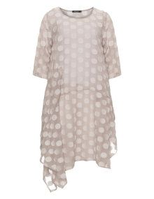 Grizas Oversized floral polka dot pattern top in Beige