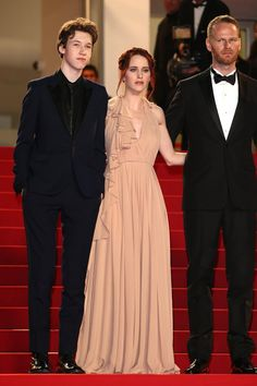 Pin for Later: The Prettiest Dresses We've Ever Seen Walked the Red Carpet at Cannes Rachel Brosnahan The actress chose a neutral gown that was complete with pleating and a ruffle that wrapped along the neckline.