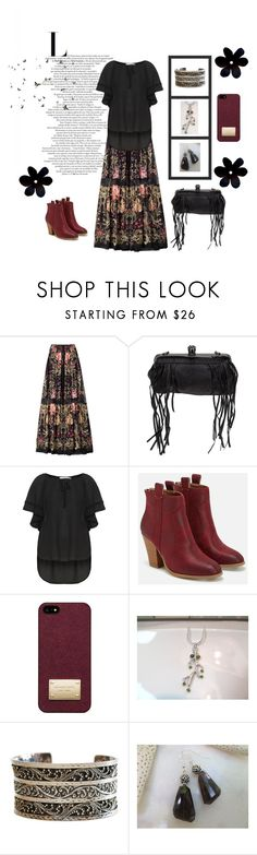 """Untitled #3829"" by keepsakedesignbycmm ❤ liked on Polyvore featuring Roberto Cavalli, Religion Clothing, Mat, JustFab, Michael Kors, Lois Hill, jewelry and gifts"