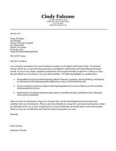 Nurse Practitioner Cover Letter Example