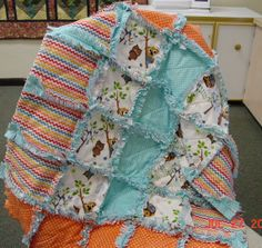 BABY RAG Quilt Kit  Riley Blake Flannel by SimplyQuiltsCrafts, $60.00 #rileyblakedesigns #flannel
