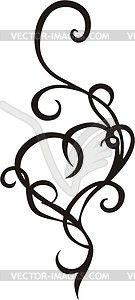 Heart pinstripe - vector clip art