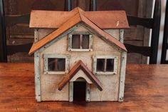 AAFA Primitive Antique Folk Art Hand Made Architectural Model Wood Doll House | eBay