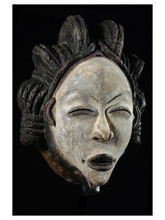 Masque Mukuyi Okuyi - Punu / Pounou - Gabon - Objet n°4367 - Galerie Bruno Mignot