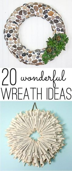 Twenty DIY wreath ideas, from classic to contemporary, romantic to farmhouse. Easy wreath ideas for almost every style of home.