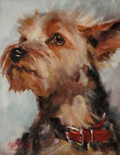 """Raymar Art Painting Competition Finalist: """"Attitude"""" by C.E.Norton, Oil 10x8 (entered in October 2009)♥•♥•♥"""