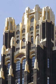 Former American Radiator Building, now The American Standard Building, NYC...Architects John Howells & Raymond Hood with contribution by Rene Paul Chambellan, 1924