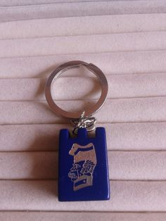 Stratego  game piece sergent  blue  keychain keyring by simplyproducts on Etsy