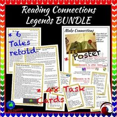 Reading Task Cards for making connections and close comprehension. 6 stories and 48 Task Card Bundle plus more!Save money on this BUNDLE!These tasks require students to make connections (Text to Self;Text to Text; Text to World)There are also tasks encouraging Close Reading Skills and higher order thinking.This is a great resource for your reading center.