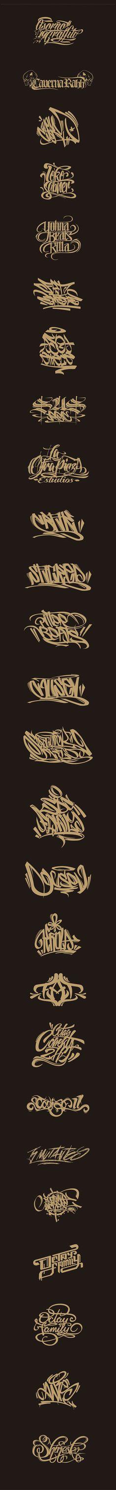 diseño de logos y letras de graffiti