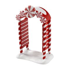 Gingerbread Christmas Decor, Candy Land Christmas, Christmas Village Display, Candy Christmas Decorations, Christmas Porch, Christmas Villages, Christmas Themes, White Christmas, Christmas Holidays