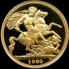 PROOF 1981 QUEEN ELIZABETH FULL GOLD SOVEREIGN CO28