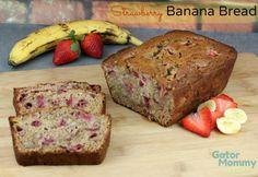 Strawberry Banana Bread Recipe - Gator Mommy Reviews