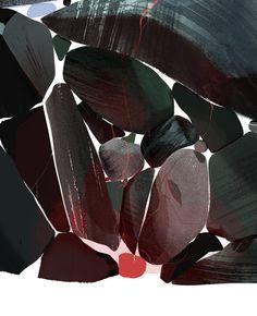 Tumblr Abstract Pattern, Plant Leaves, Painting, Art School, Locker, Color, Design, Illustrations, Texture
