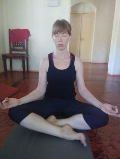 Danielle meditating