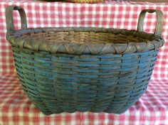 Painted Blue Basket