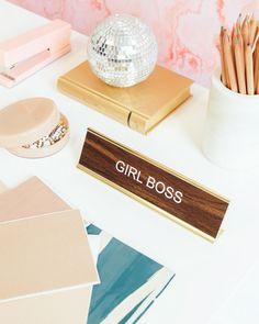 """""""Girl Boss"""" Desk Plaque"""