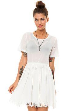 The Shredder Dress in White by UNIF