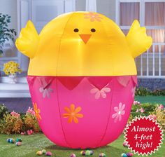 Easter bunny lighted inflatable easter decorations - Light up easter decorations ...