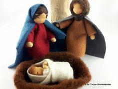 Krippen - Heilige Familie - Krippe - ein Designerstück von Tanjas-Blumenkinder…