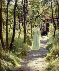 Peder Severin Kroyer - Marie in the Garden