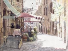 Beautiful watercolor painting of Michal Orlowski