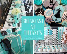 Tiffany OFF! Tiffany and Co Bridal Shower Ideas - Themes Bridal Shower Tables, Bridal Shower Rustic, Bridal Shower Decorations, Bridal Shower Favors, Bridal Shower Invitations, Bride Shower, Tiffany Theme, Tiffany Party, Tiffany Blue