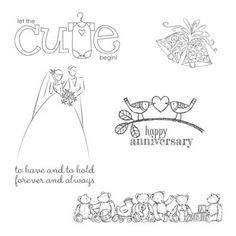 Stampin Up Best of Brides and Babies CLING Mount Stamp Set