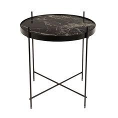 Zuiver Cupid zwart marmeren bijzettafel is een super hip tafeltje met een zwart marmeren tafelblad! Licht maar toch stevig bijzettafel zwart marmer.