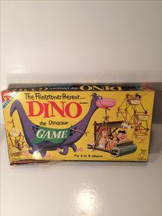 1961 Vintage Toy The Flintstones Present Dino The Dinosaur Board Game Transogram 70s Toys, Retro Toys, Vintage Toys, Dino The Dinosaur, Dinosaur Games, Bored Games, Cool Toys, Awesome Toys, Vintage Board Games