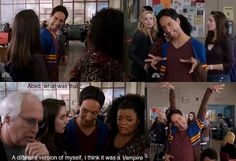 "NBC's ""Community"" (Abed, the Vampire)... this one is for you @Brandi Kerr Johnson"