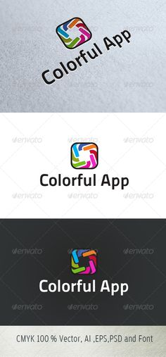 Colorful app Logo for sale just 29$