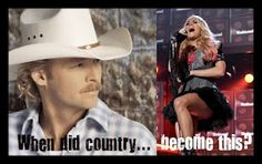 I love carrie but seriously.  I wanna hear songs about old dogs,trucks, and wonderful ol' back roads