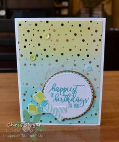 Springtime Foils and Picture Perfect Birthday from Stampin' Up!