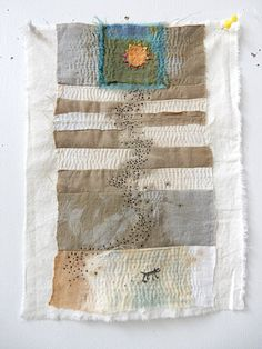 Image of Follow the Sun Fabric Panels, Fabric Art, 100 Day Project Ideas, Types Of Textiles, Sewing Art, Diy Embroidery, Textile Artists, Fabric Scraps, Hand Stitching
