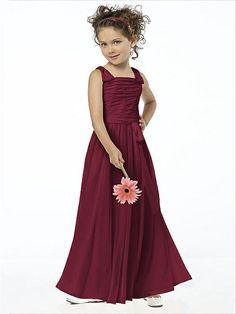 Chiffon Burgandy Flower Girl Style FL4033 http://www.dessy.com/dresses/flowergirl/fl4033/