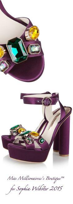 Sophia Webster 2015 Embellished Satin Sandal - Miss Millionairess's Boutique™