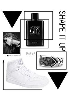 """Shape It Up #blacknwhite #men #classy #fashionable"" by rae-love-fashion-design ❤ liked on Polyvore featuring NIKE, Giorgio Armani and David Yurman"
