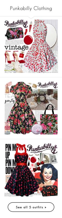 """Punkabilly Clothing"" by gaby-mil ❤ liked on Polyvore featuring Classified, Christian Louboutin, Gucci, Kate Spade, punkabillyclothing, Oris, Jane Iredale, Tom Ford, Therapy and Benefit"