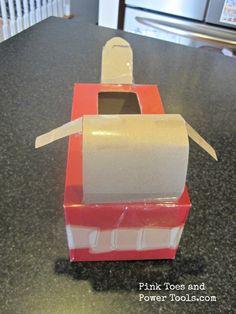Head view for DIY Puppy Dog Valentine Box