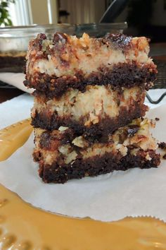 Just Jessie B: German Chocolate Cake Bars (Paleo)~make THM subs