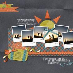 The Summer Will Fade Polaroid Challenge Layout