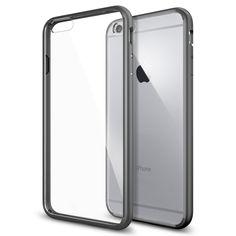 "Spigen iPhone 6 plus (5.5"") Case Ultra Hybrid Gunmetal (PET) SGP10896: Buy Spigen iPhone 6 plus (5.5"") Case Ultra Hybrid Gunmetal (PET) SGP10896 Online at Low Price in India - Amazon.in"