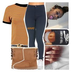 tell em' what to do when you see a bad b*tch in front of you baby.. by lamamig on Polyvore featuring polyvore, fashion, style, Boohoo, UGG Australia, Louis Vuitton and clothing