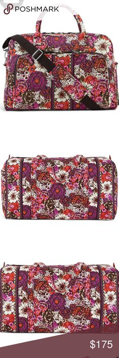 Vera Bradley 3 piece travel set NWT Vera Bradley 3 piece travel set in rosewood pattern. The weekender, the small duffel and the large duffel bag. Sold together. All brand new Vera Bradley Bags Travel Bags