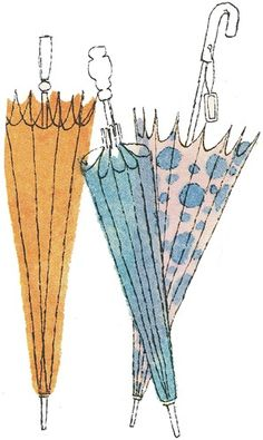 Sketch a day inspiration for day 66 ~ Umbrella These remind me of illustrations I saw in books written by Roald Dahl when I was younger. Cute Umbrellas, Buch Design, Umbrella Art, Chiaroscuro, Arte Pop, Pics Art, Belle Photo, Illustrations Posters, Watercolor Art