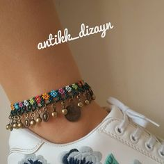 Jewelry Making Boho Bracelet Tutorial - Jewelry Ankle Jewelry, Ankle Bracelets, Beaded Anklets, Beaded Bracelets, Ankle Chain, Slave Bracelet, Bohemian Bracelets, Beaded Jewelry Patterns, Boho Diy