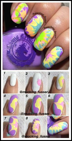 FAN FRIDAY! We love these groovy tie-dye nails using all Lime Crime polishes by Marbling Madness. Check out her blog for for more cool nail looks and tutorials! http://marblingmadness.blog.com/